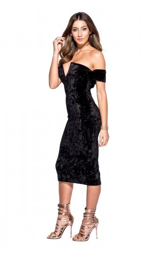crushed-velvet-black-dress