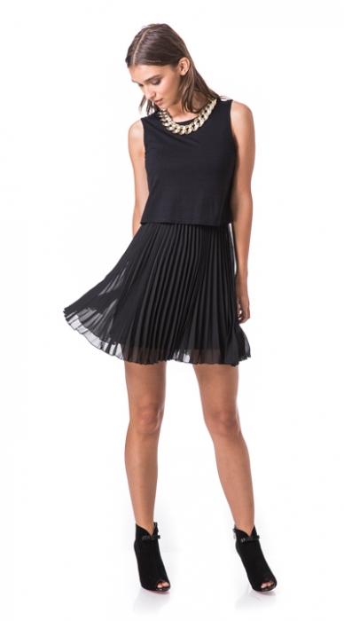 שמלת רומי פליסה 34,36,38,40