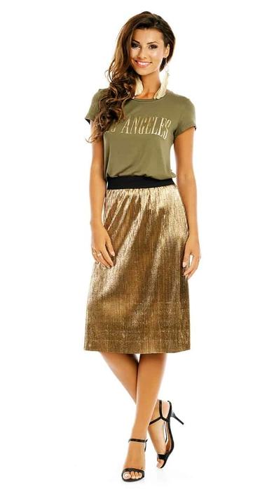 חצאית מטאלית זהב