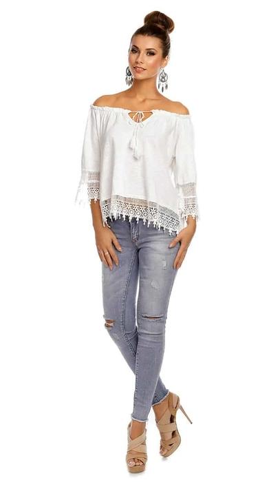 חולצת מיסי אופ שולדרס לבנה