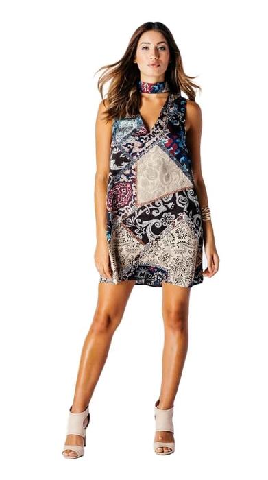 שמלת משי קולר 38,40
