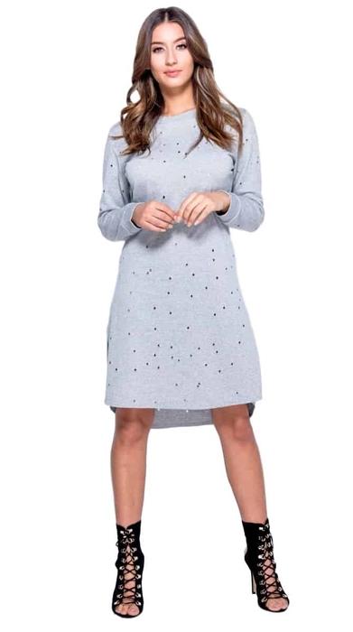 שמלת מעבר הולס אפורה 34,36,38,40