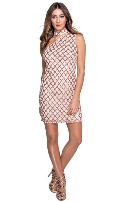 שמלת פאייטים אסימטרית 36,38,40