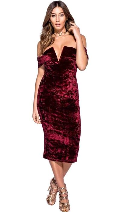 שמלת קטיפה מונקו 36,40